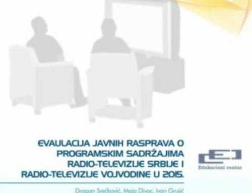 Evaluacija javnih rasprava o medijskim sadržajima RTS-a i RTV-a